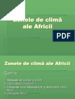 Zonele de clima