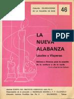 Cántico de La Virgen María (G 3-4) (La Nueva Alabanza - Laudes y Vísperas, Instituto Pontificio San Pío X, Salamanca-Tejares, ESPAÑA, 1966, Pp 40 y 41)