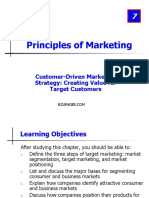 Customer-Driven Marketing Strategy Creating Value for Target Customers Chapter 07,Principles of