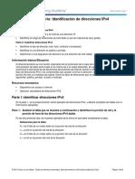 Laboratorio Direccionamiento IPv4