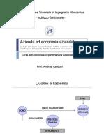 1. Azienda Ed Economia Aziendale
