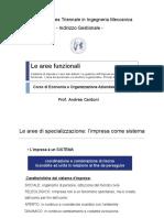 6. Aree Funzionali e Organizzazione