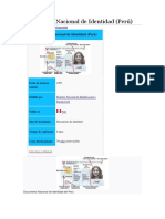 La Importancia Del Documento Nacional de Identidad