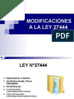 LEY 27444 y Sus Modificatorias