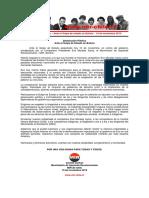 10nov2019 - Comité Central – Ante El Golpe de Estado en Bolivia