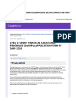 Gmail - Ched Student Financial Assistance Programs (Stufaps) Application Form Sy 2019-2020