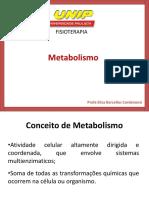 Aula 1 - Introdução Ao Metabolismo e Metabolismo de CHO