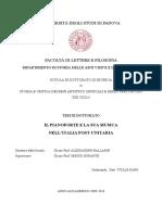 Tesi - Il Pianoforte e La Sua Musica Nell'Italia Post Unitaria