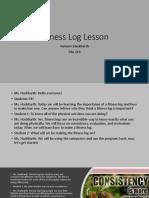 fitness log lesson