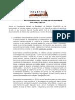 Declaración Pública Coordinadora Nacional de Estudiantes de Geología