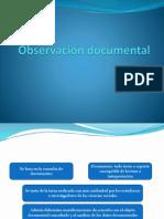 Observación Documental
