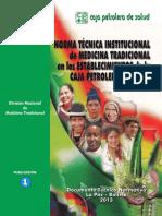 Normas técnicas institucional de la medicina tradicional