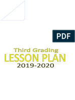 Third Graing Lesson Plan
