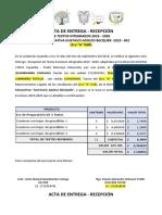 Actas de Entrega Recepcion de Textos 2019-2020
