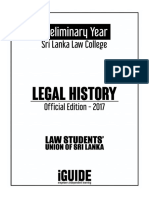 Legal History & Legal Systems of Sri Lanka