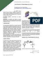 Modelo de Aplicacion Tranformada de Laplace