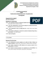 Cronograma_II Jornadas Patagónicas de SIG y Teledetección