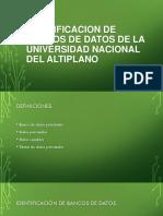 Diapositivas de Banco de Datos