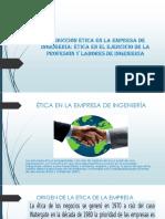 Conducción Ética en La Empresa de Ingeniería