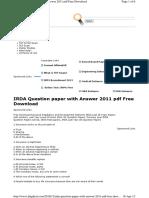 (Www.entrance Exam.net) IRDA 2011 Question&Answers