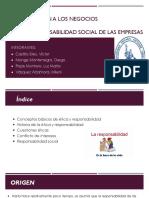 Etica y Responsabilidad Social de Las Empresas