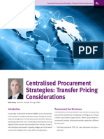 Ie Centralised Procurement Strategies Transfer Pricing