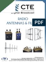 CTE Brochura de Antenas e Filtros