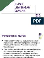 Isu Penyelewengan Al-Qur'An