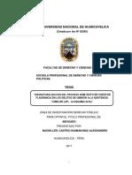 Max Castro H. - Tesis de Licenciatura - UNH - Desnaturalización Del PI en Casos de Flagrancia en Los Delitos de Omisión a La Asistencia Familiar