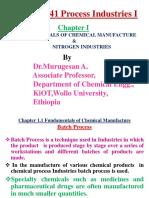 Chapter i Fundamentals & Nitrogen Industries