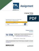 UTPL - Language Testing Assigment (2019-2020)