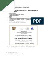 ELEMENTOS DE PRESENTACION TESIS