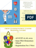 Medical and Dental Check Up