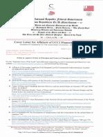 Affidavit of Universal Commercial Code 1- FINANCING STATEMENT