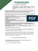 PLAN 3P DE APOYO Y RECUPERACIÓN DE 4°  español
