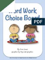 wordworkchoiceboardforliteracycenter  1