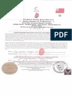 Universal Sovereign Moorish Government One Voice Affidavit for the record