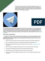 Rules of Telegram Group Admin