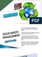 Solid Waste Management 1