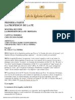 Catecismo de La Iglesia Católica, PriTEEEE3333333mera Parte, Segunda Sección, Capítulo Primero, Artículo Primero, Párrafo Quinto, 325-354
