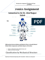 Mechatronics Assignment by Waqas Ali Tunio (07ME34) QUEST Nawabshah