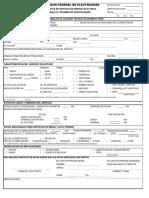 Formato de Solicitud de Servicio 2019 CFE