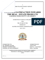 Customer Satisfaction Towards the Real Estate Products