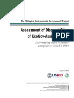 Assessment of Disposal Sites of EcoGov Assisted LGU_FINAL