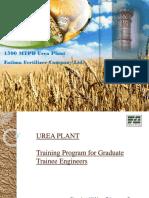 Urea Plant Training Program for GTE