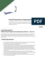 F9092 _ Fluid Properties & Hydrostatics Bench