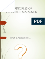 Principles in Language Assessment