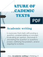 Nature of Academic Texts