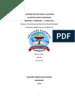 Laporan Praktik Kerja Lapangan Di Apotek Siswa Pwd
