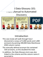 Talk - Beyond Data Glossary 101 From Manual to Automated Discovery